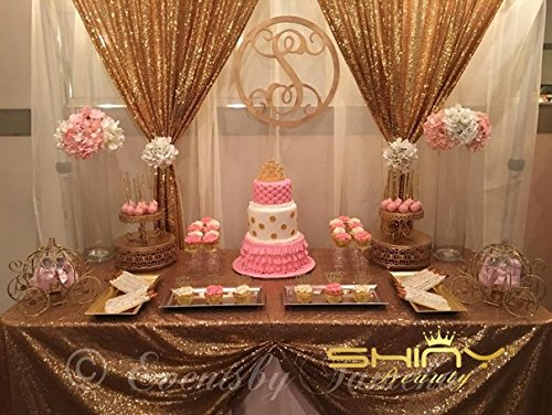 ShiDianYi 4FTx6FT Gold Backdrop Curtain Photography Sequin