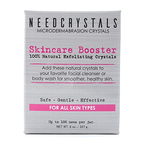 NeedCrystals Microdermabrasion Face Scrub. Natural Facial Exfoliator for Dull or Dry Skin Improves Acne Scars, Blackheads, Pore Size, Wrinkles, Blemishes & Skin Texture. 8 oz by NeedCrystals (Image #2)