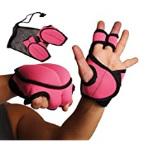 KICKBOXING TURBO JAM WEIGHTED GLOVES S/M PINK w/CARRYING BAG
