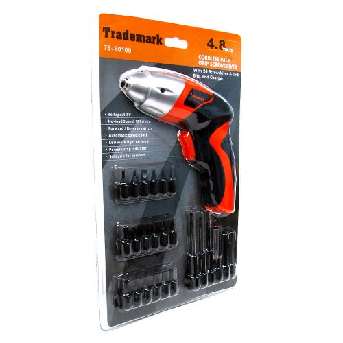 Trademark 75-60100 Hawk 4.8V Cordless Screwdriver with Light by Trademark (Image #2)