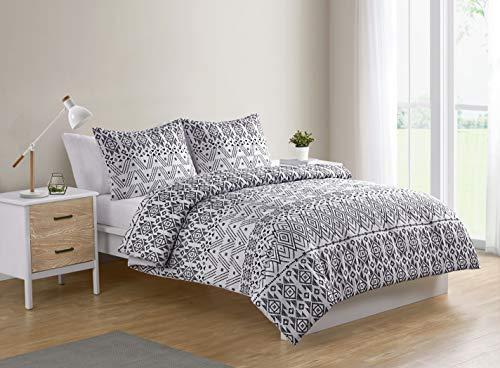 VCNY Home Mesa Comforter Set, Twin XL, Black/White (Comforter Set Mesa)