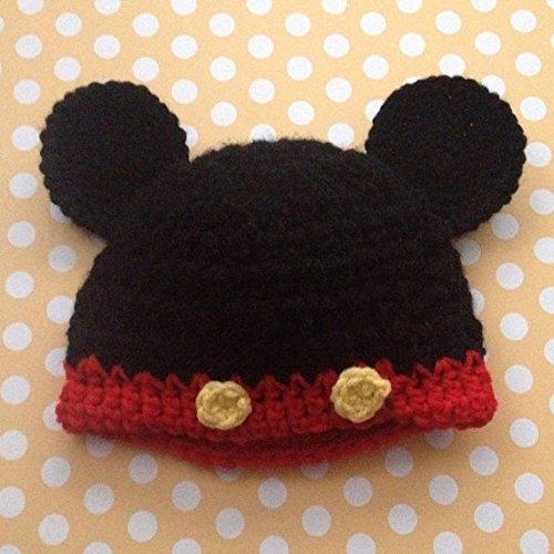 Amazon Crochet Mickey Mouse Inspired Baby Hat Handmade
