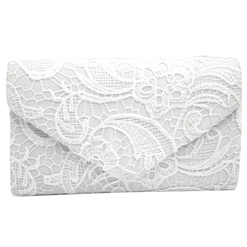 Sasairy Ladies Evening Bag Floral Lace Envelope Clutch Party Prom Purse Handbag by Sasairy