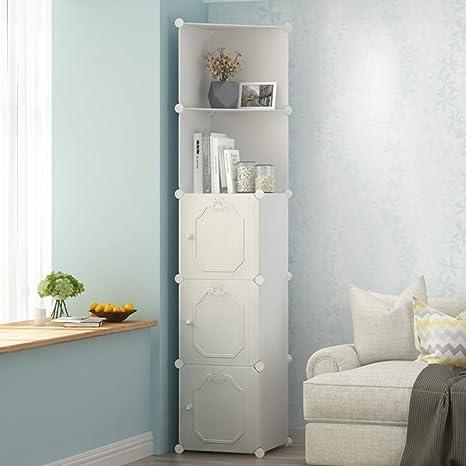 Aluk Multi Function Corner Cabinet Resin Plastic Storage