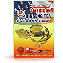 Hsu's Ginseng American Ginseng Tea 20's (Economic Pack)