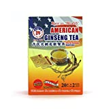 Hsu's Ginseng SKU 1036 | American Ginseng Tea, Economy 20ct | Cultivated American Ginseng from Marathon County, Wisconsin USA | 许氏花旗参 | 20ct Economy Box, 西洋参, B000638OVI