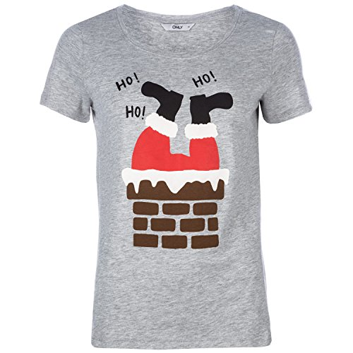 Only Damen Santa In The Chimney T-Shirt