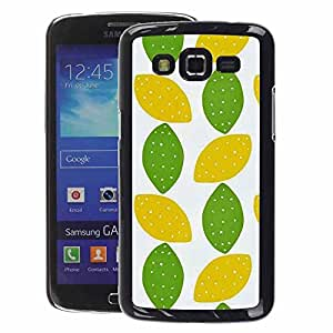 A-type Arte & diseño plástico duro Fundas Cover Cubre Hard Case Cover para Samsung Galaxy Grand 2 (Lime Polka Dot Art Leaves Pattern)