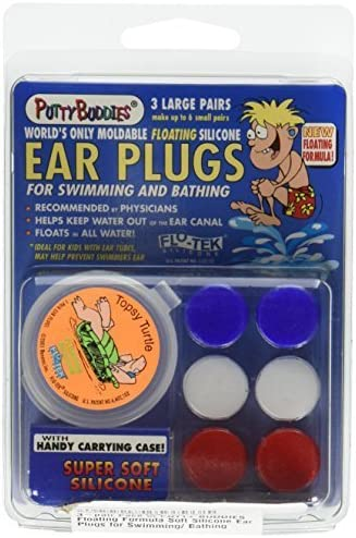 Premium Swimming Earplugs Keep Water Out Doctor Recommended Putty Buddies Floating Earplugs 8-Pair Pack Soft Silicone Ear Plugs for Swimming /& Bathing Invented by Physician