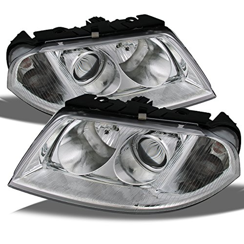 For Passat Chrome Replacement Projector Headlights Halogen Style Driver/Passenger Lamps