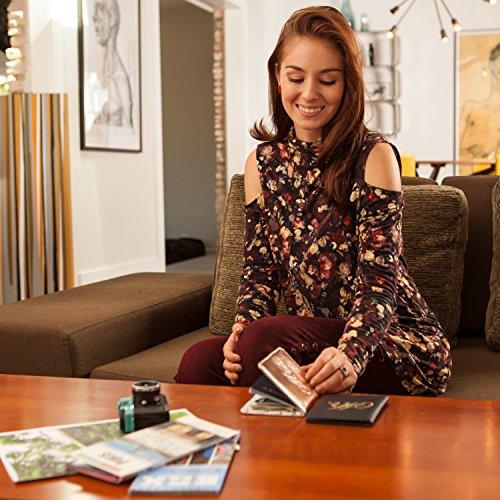 Mirror Mirror Passport Wallets Travel Holder Set: Mr. & Mrs. Slim Waterproof Passport Case Covers & Organizer Slots for ID, Money & Credit Card - Black & Rose Gold by Mirror Mirror (Image #5)