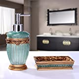YanCui@ Home Decor, Bath Ideas, Home Gift Bathroom wash set Resin bathroom accessories set hand Sanitizer bottles twin sets,1