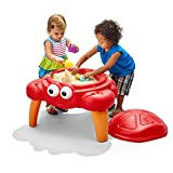 Step2 Crabbie Sand Table for Toddlers - Durable Outdoor Kids Activity Game Sandbox Toys with Lid and Accessory Set