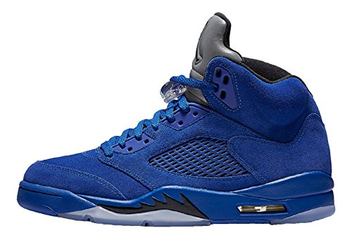 Jordan Men Air 5 Retro blue game royal black Size 10.0 US by Jordan