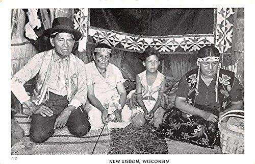 Indians New Lisbon, Wisconsin postcard