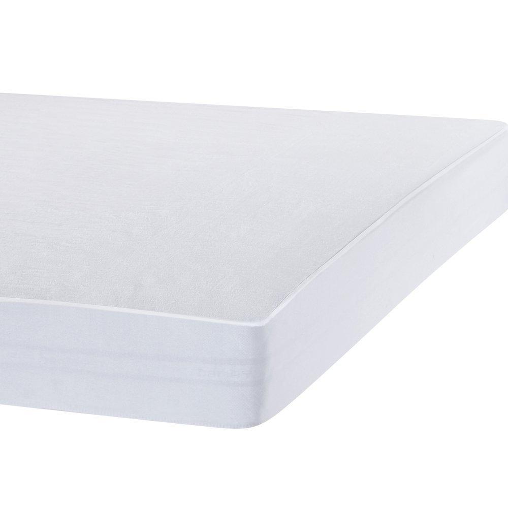 90x200-90x190 cm Bedecor 2 X Prot/ège Matelas Imperm/éable et Respirante de Blanc Flanelle