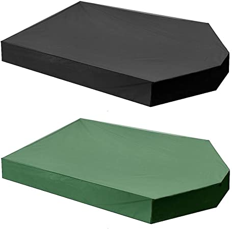 Cubiertas para Muebles de Jardín Oxford Arenero caja de arena cubierta a prueba de polvo impermeable
