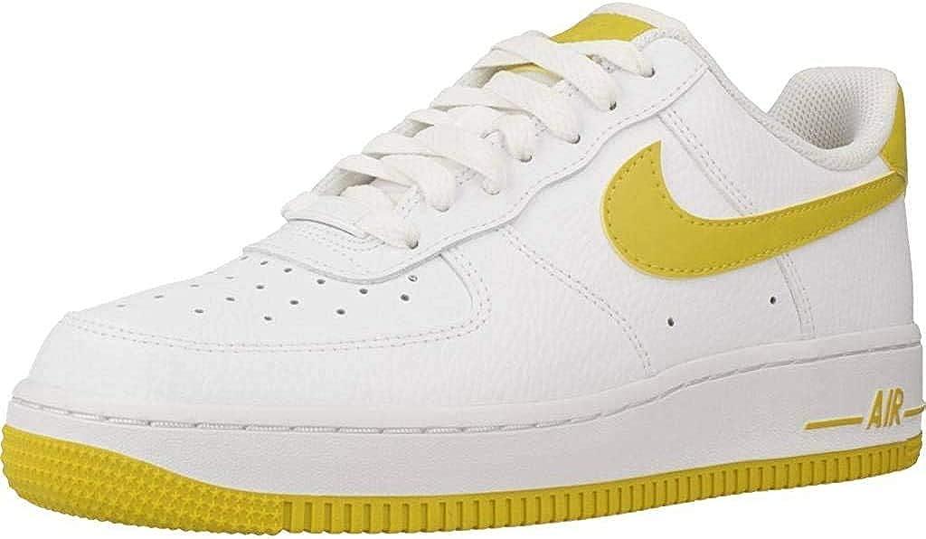 Nike Damen WMNS Air Force 1 '07 Basketballschuhe, Mehrfarbig Mehrfarbig White Bright Citron 000