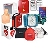 Deluxe AED Defibrillator and Training Package CPR Savers & First Aid Supply