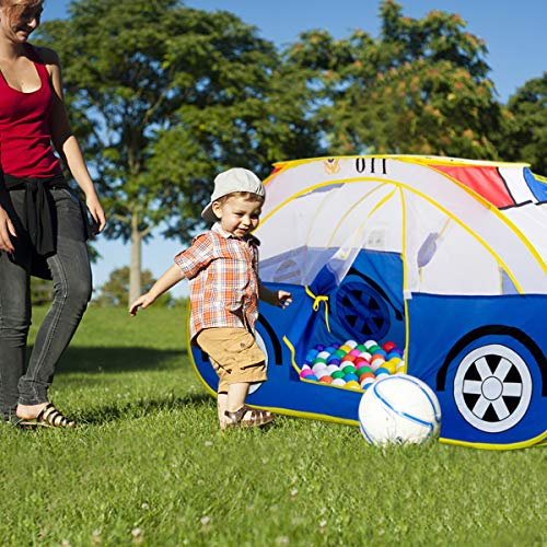 Artiron Police Car Play Tent, Indoor Outdoor Kids Vehicle Castle Pop up Tent Playhouse as Great Birthday Gift Toys 1-8 Years Old Toddlers Baby Boys Girls (Police Car) by Artiron (Image #3)