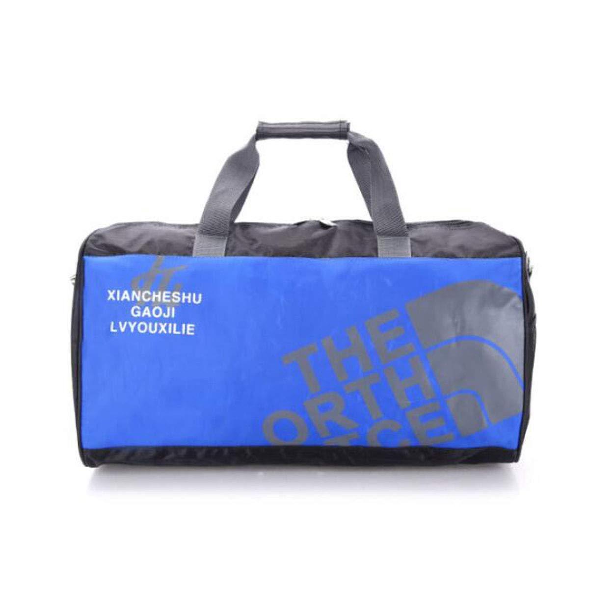 Travel and Leisure Duffel Bag Black Size: 492228cm Fitness Bag Cylindrical Shoulder Oblique Travel Training Bag Tongboshi Fitness Bag