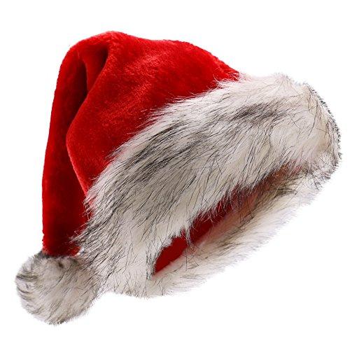 [Deluxe Plush Santa Hats] (Deluxe Santa Hat)