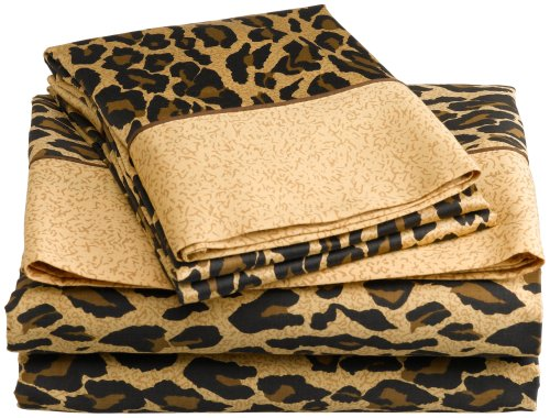 Elite Home Regal Collection 300 Thread-Count Leopard Prin...