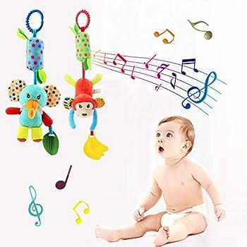 Gojiny Juguete Colgante para Cochecito Infantil Cama de Cuna Felpa Sonajero para Beb/é Juguetes Musicales para La Silla de Paseo