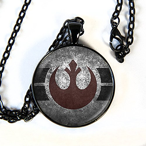 Star Wars inspired Rebel Alliance Necklace - The Last (Rebels Art Glass)