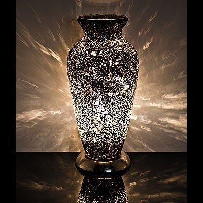 Mosaic Glass Vase Lamp Black Amazon Lighting