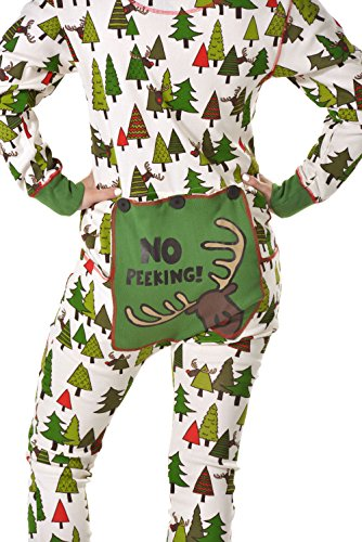 Adult Lazy One Unisex No Peeking! Flapjack Onesie Pajamas