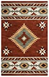 Rizzy Home SU1822 Southwest Hand-Tufted Area Rug, 5-Feet by 8-Feet, Southwest, Navajo Red