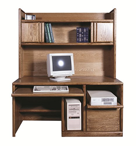 Forest Designs 60w Bullnose Desk & Hutch 60w Golden Oak