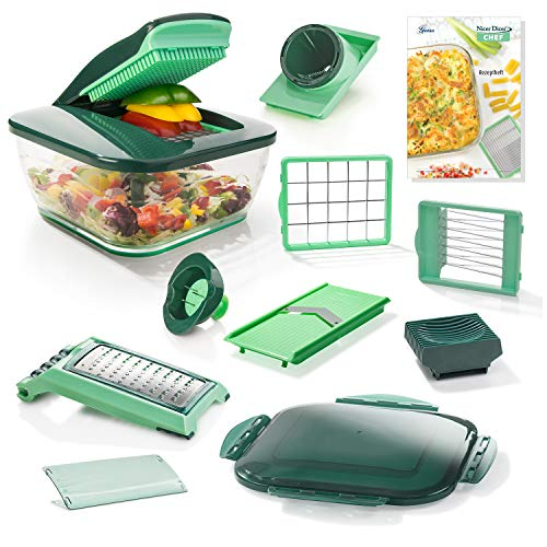 Genius Nicer Dicer Chef, 15 Pieces, Fruit and Vegetable Chopper