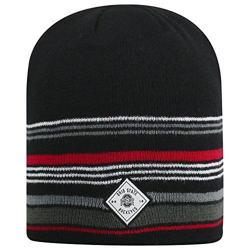Top of the World Ohio State Buckeyes Official NCAA Uncuffed Knit Avenue Stocking Stretch Sock Hat Cap Beanie 464169