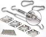 Pronanza  Premium Sun Shade Sail Hardware Kit Stainless Steel (Square)