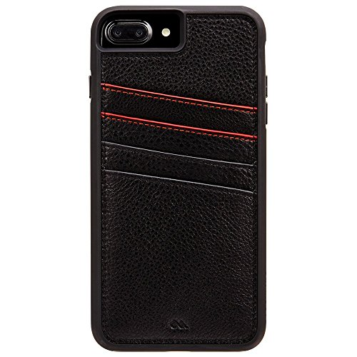 Case-Mate iPhone 8 Plus Case - TOUGH ID - Leather iPhone Wallet - Protective Design for Apple iPhone 8 Plus - Black