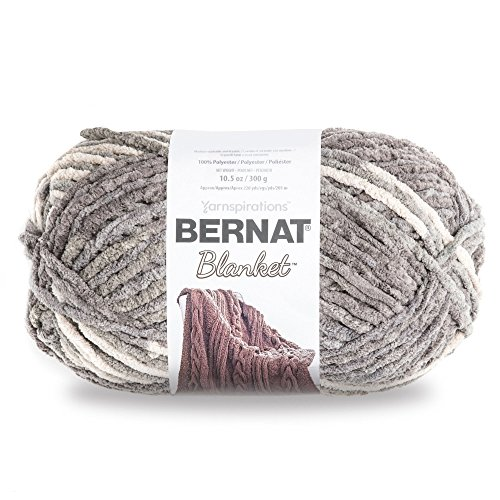 Bernat Blanket Yarn, Silver Steel (Best Yarn To Make A Blanket)