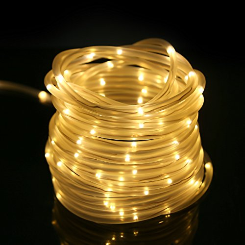 le 33ft 120 led dimmable rope lights battery powered import it all. Black Bedroom Furniture Sets. Home Design Ideas