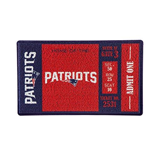 Team Sports America New England Patriots Recyclable PVC Vinyl Indoor/Outdoor Weather-Resistant Team Logo Door Turf Mat (Floor Rug England)