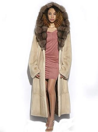 Sable Fur Coat >> Henig Furs Mink Fur Coat With Sable Fur Hood And Detachable Belt At