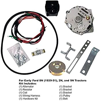Tremendous Amazon Com One Wire 63 Amp Alternator Conversion Kit Ford 8N Wiring Digital Resources Ommitdefiancerspsorg