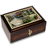 Thomas Kinkade Serenity Prayer Illuminated Music Box With Prayer Card by The Bradford Exchange