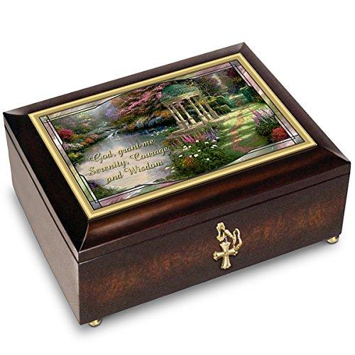Thomas Kinkade Serenity Prayer Illuminated Music Box With Prayer Card by The Bradford - Music Box Serenity