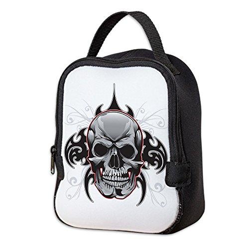 Neoprene Lunch Bag Tribal Skull -