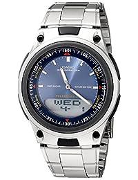 Casio Men's Sports Chronograph Alarm 10-Year Battery Databank Watch Blue AW80D-2AV
