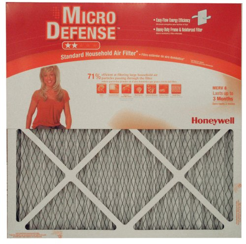 Honeywell CF108A2020/A Standard Air Cleaning 1-Inch MERV 8 Filter, 6-Pack