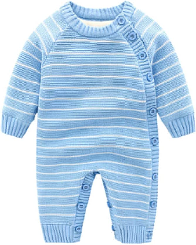 Bambino Pagliaccetto Tutine Tuta Maniche Lunga Morbido Abbigliamento Sets Invernali Bambine Bambini