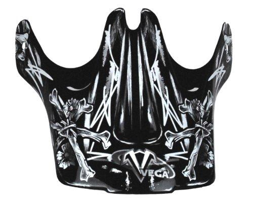 Vega Viper Junior Off-Road Helmet Visor with Skull'N'Bonz Graphic  (Pink)