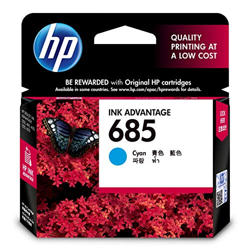 HP 685 Ink Cartridge   Cyan